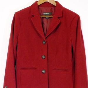 Eddie Bauer Size 12 Burgundy Jacket